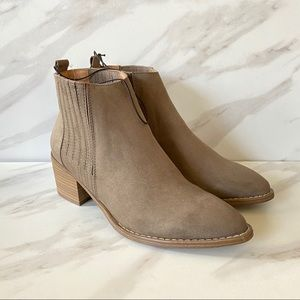 UNIVERSAL THREAD Faux Suede Pull On Ankle Booties